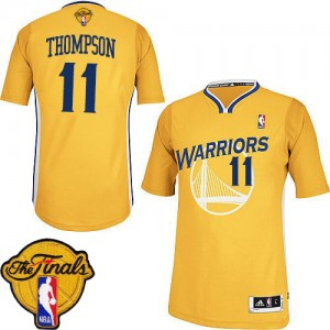 Maillot Authentic Golden State Warriors NBA Alternate 2015 The Finals Patch Or - #11 Klay Thompson - Femme