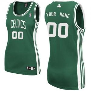 Boston Celtics Personnalisé Adidas Road Vert (No Blanc) Maillot d'équipe de NBA Magasin d'usine - Authentic pour Femme