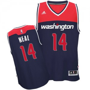 Maillot Adidas Bleu marin Alternate Swingman Washington Wizards - Gary Neal #14 - Homme