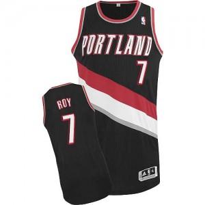 Maillot NBA Noir Brandon Roy #7 Portland Trail Blazers Road Authentic Homme Adidas