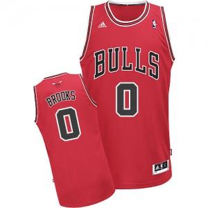 Maillot NBA Rouge Aaron Brooks #0 Chicago Bulls Road Swingman Homme Adidas