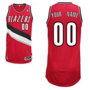 Portland Trail Blazers Authentic Personnalisé Alternate Maillot d'équipe de NBA - Rouge pour Homme