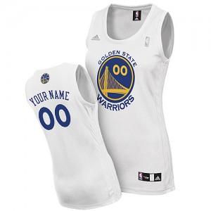 Golden State Warriors Personnalisé Adidas Home Blanc Maillot d'équipe de NBA préférentiel - Swingman pour Femme