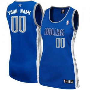 Dallas Mavericks Personnalisé Adidas Alternate Bleu marin Maillot d'équipe de NBA en soldes - Authentic pour Femme