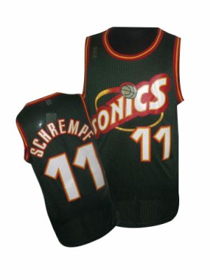 Maillot NBA Authentic Detlef Schrempf #11 Oklahoma City Thunder SuperSonics Throwback Vert - Homme