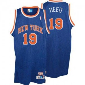 Maillot NBA Authentic Willis Reed #19 New York Knicks Throwback Bleu royal - Homme