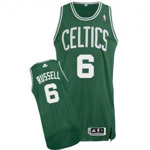 Boston Celtics Bill Russell #6 Road Authentic Maillot d'équipe de NBA - Vert (No Blanc) pour Homme