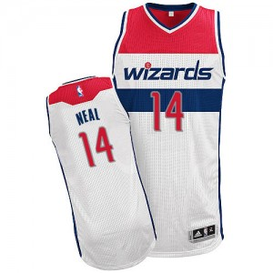 Maillot Authentic Washington Wizards NBA Home Blanc - #14 Gary Neal - Homme