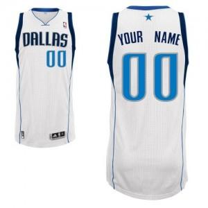 Maillot Adidas Blanc Home Dallas Mavericks - Authentic Personnalisé - Homme