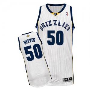 Memphis Grizzlies Bryant Reeves #50 Home Authentic Maillot d'équipe de NBA - Blanc pour Homme