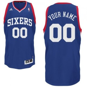 Maillot Philadelphia 76ers NBA Alternate Bleu royal - Personnalisé Swingman - Enfants