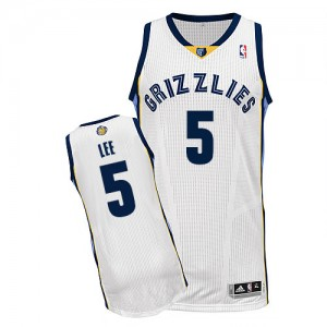 Maillot Adidas Blanc Home Authentic Memphis Grizzlies - Courtney Lee #5 - Homme