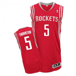 Maillot NBA Houston Rockets #5 Marcus Thornton Rouge Adidas Authentic Road - Homme