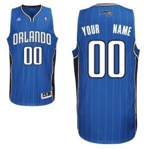 Maillot NBA Bleu royal Swingman Personnalisé Orlando Magic Road Homme Adidas