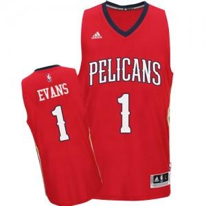 Maillot Adidas Rouge Alternate Swingman New Orleans Pelicans - Tyreke Evans #1 - Homme