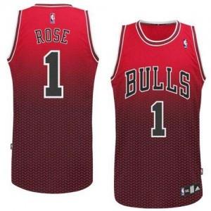 Chicago Bulls Derrick Rose #1 Resonate Fashion Authentic Maillot d'équipe de NBA - Rouge pour Homme