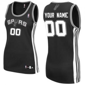 Maillot NBA Authentic Personnalisé San Antonio Spurs Road Noir - Femme