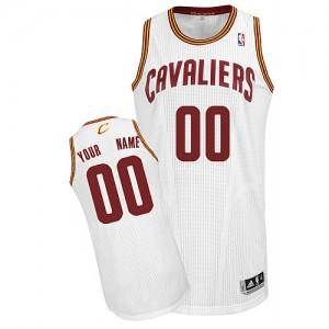 Maillot NBA Blanc Authentic Personnalisé Cleveland Cavaliers Home Enfants Adidas