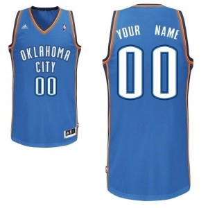 Maillot NBA Oklahoma City Thunder Personnalisé Swingman Bleu royal Adidas Road - Enfants