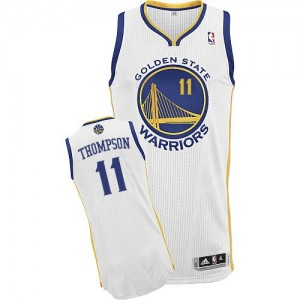 Maillot Adidas Blanc Home Authentic Golden State Warriors - Klay Thompson #11 - Femme