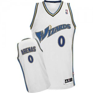 Maillot NBA Washington Wizards #0 Gilbert Arenas Blanc Adidas Swingman - Homme