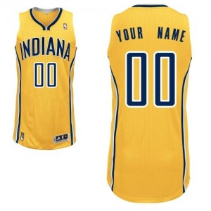Indiana Pacers Authentic Personnalisé Alternate Maillot d'équipe de NBA - Or pour Femme