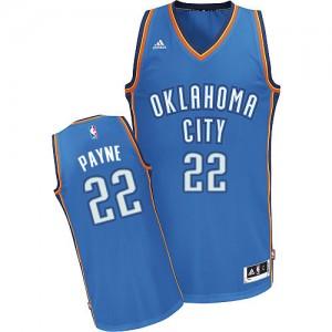 Oklahoma City Thunder Cameron Payne #22 Road Swingman Maillot d'équipe de NBA - Bleu royal pour Homme