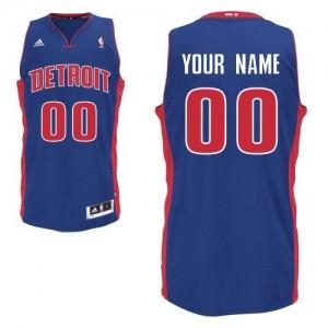 Detroit Pistons Personnalisé Adidas Road Bleu royal Maillot d'équipe de NBA en vente en ligne - Swingman pour Homme