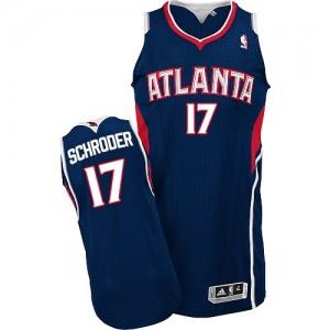 Maillot NBA Authentic Dennis Schroder #17 Atlanta Hawks Road Bleu marin - Homme