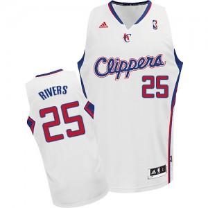 Los Angeles Clippers #25 Adidas Home Blanc Swingman Maillot d'équipe de NBA pas cher en ligne - Austin Rivers pour Homme