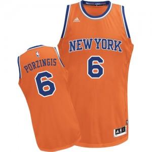Maillot NBA Swingman Kristaps Porzingis #6 New York Knicks Alternate Orange - Homme