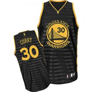 Maillot NBA Golden State Warriors #30 Stephen Curry Gris noir Adidas Authentic Groove - Femme