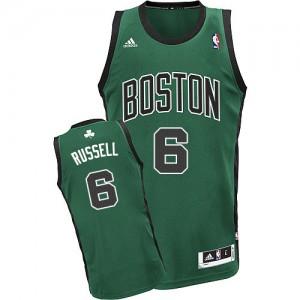 Boston Celtics Bill Russell #6 Alternate Swingman Maillot d'équipe de NBA - Vert (No. noir) pour Homme
