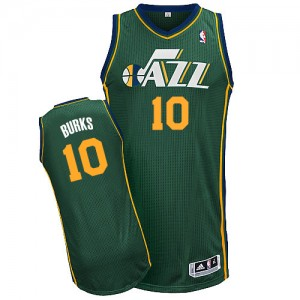 Maillot NBA Authentic Alec Burks #10 Utah Jazz Alternate Vert - Homme