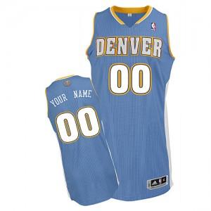 Denver Nuggets Personnalisé Adidas Road Bleu clair Maillot d'équipe de NBA en ligne - Authentic pour Enfants
