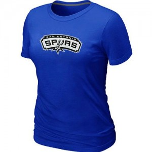 T-shirt principal de logo San Antonio Spurs NBA Big & Tall Bleu - Femme