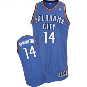 Maillot NBA Authentic D.J. Augustin #14 Oklahoma City Thunder Road Bleu royal - Homme