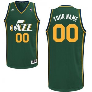 Maillot Adidas Vert Alternate Utah Jazz - Swingman Personnalisé - Enfants