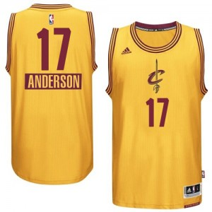 Maillot Authentic Cleveland Cavaliers NBA 2014-15 Christmas Day Or - #17 Anderson Varejao - Homme