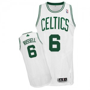 Maillot NBA Authentic Bill Russell #6 Boston Celtics Home Blanc - Homme