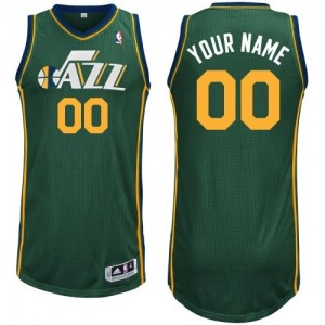 Maillot NBA Authentic Personnalisé Utah Jazz Alternate Vert - Enfants