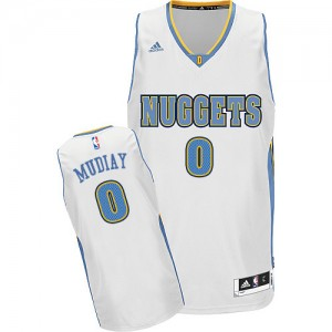 Maillot Adidas Blanc Home Swingman Denver Nuggets - Emmanuel Mudiay #0 - Homme
