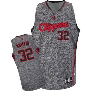 Maillot NBA Authentic Blake Griffin #32 Los Angeles Clippers Static Fashion Gris - Homme