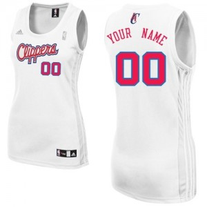 Maillot Adidas Blanc Home Los Angeles Clippers - Swingman Personnalisé - Femme