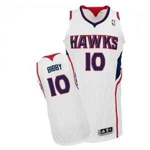 Maillot NBA Authentic Mike Bibby #10 Atlanta Hawks Home Blanc - Homme