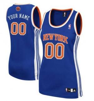 New York Knicks Personnalisé Adidas Road Bleu royal Maillot d'équipe de NBA Expédition rapide - Authentic pour Femme
