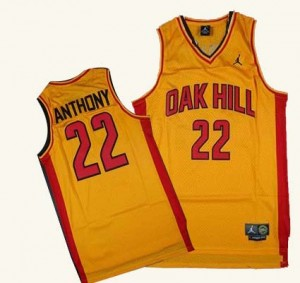 Maillot Authentic New York Knicks NBA Oak Hill Academy High School Or - #22 Carmelo Anthony - Homme