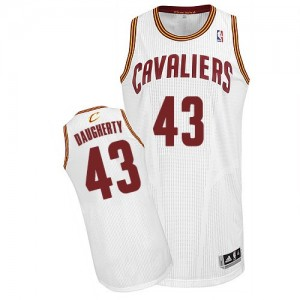 Maillot NBA Authentic Brad Daugherty #43 Cleveland Cavaliers Home Blanc - Homme