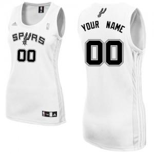 Maillot NBA San Antonio Spurs Personnalisé Swingman Blanc Adidas Home - Femme
