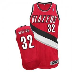 Portland Trail Blazers #32 Adidas Alternate Rouge Authentic Maillot d'équipe de NBA Le meilleur cadeau - Bill Walton pour Homme